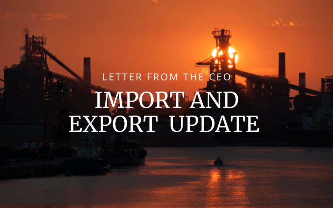Import and Export Update