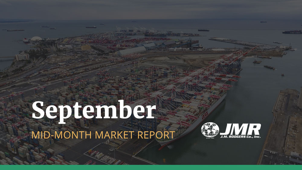 [September Mid-Month Market Report] Transpacific Rates and Space Situation Updates